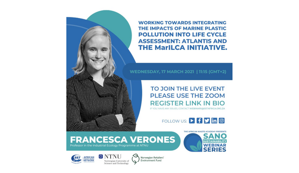 Presentation in the Sano Sustainability Webinar Series